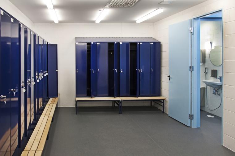 A school's sports locker room. (Photo by Jaak Nilson/Corbis)