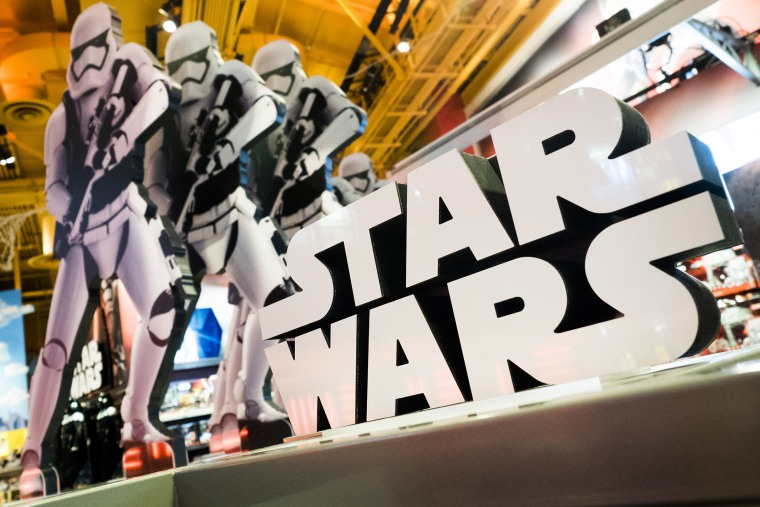 A view of a display of 'Star Wars' toys in a Toys R Us store in New York, Oct. 14, 2015. (Photo by Justin Lane/EPA)