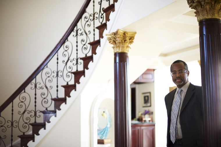 Dr. Benjamin Carson photographed at his residence in Upperco, Md. on Nov. 27, 2014. (Photo by Mark Makela)