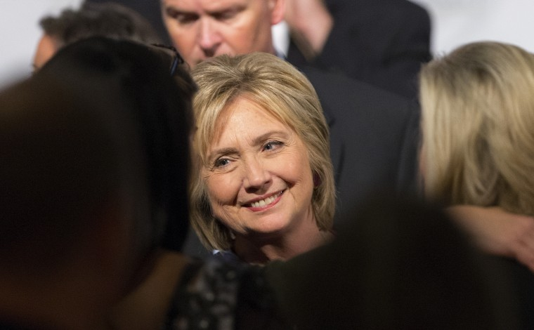 Democratic presidential candidate Hillary Clinton smiles as she greets supporters after speaking during the SC Equality dinner in Columbia, S.C., Nov. 7, 2015. (Photo by Chris Keane/Reuters)