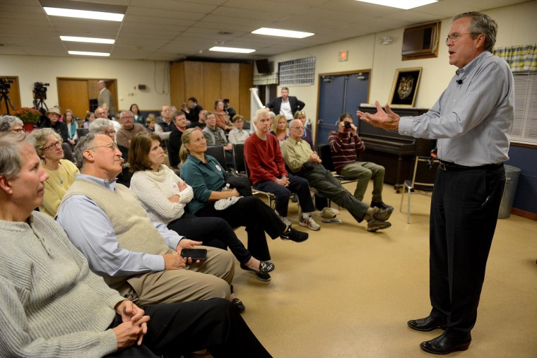 Republican presidential candidate Jeb Bush speaks during a meet and greet at the Lions Club on Nov. 4, 2015 in Moultonborough, N.H. (Photo by Darren McCollester/Getty)