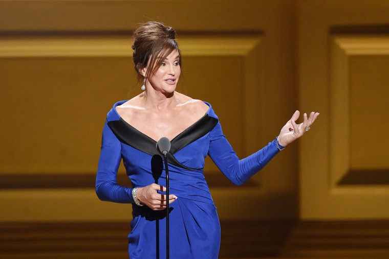 Caitlyn Jenner speaks onstage at the 2015 Glamour Women of the Year Awards on Nov. 9, 2015 in New York, N.Y. (Photo by Larry Busacca/Getty for Glamour)
