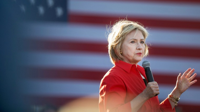 Democratic presidential candidate Hillary Clinton speaks to guests at a campaign event on Nov. 3, 2015 in Coralville, Iowa. (Photo by Scott Olson/Getty)