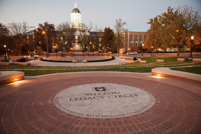 Mizzou Legacy Circle at the Mel Carnahan quad on the campus of University of Missouri - Columbia is seen on Nov. 10, 2015 in Columbia, Mo. (Photo by Michael B. Thomas/Getty)