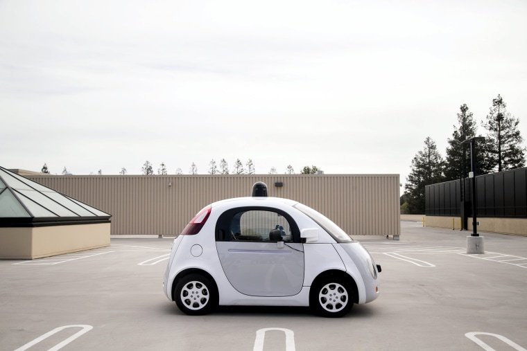 A prototype of Google's own self-driving vehicle is seen during a media preview of Google's current autonomous vehicles in Mountain View, Calif., on Sept. 29, 2015. (Photo by Elijah Nouvelage/Reuters)