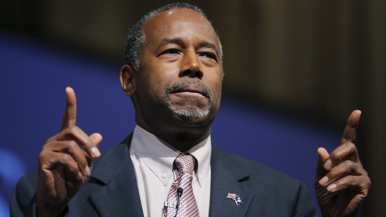 Republican presidential candidate Ben Carson speaks during a Presidential Town Hall Series at Bob Jones University in Greenville, S.C., Nov. 13, 2015. (Photo by Chris Keane/Reuters)