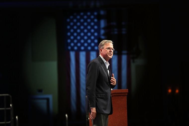 Republican presidential candidate former Florida Gov. Jeb Bush speaks during the Sunshine Summit conference being held at the Rosen Shingle Creek on Nov. 13, 2015 in Orlando, Fla. (Photo by Joe Raedle/Getty)