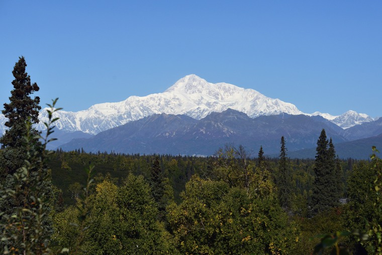 A view of Denali, formerly known as Mt. McKinley, on Sept. 1, 2015 in Denali National Park, Alaska. (Photo by Lance King/Getty)