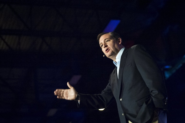 U.S. Republican presidential candidate Texas Sen. Ted Cruz speaks at the Freedom 2015 National Religious Liberties Conference in Des Moines, Iowa on Nov. 6, 2015. (Photo by Mark Kauzlarich/Reuters)
