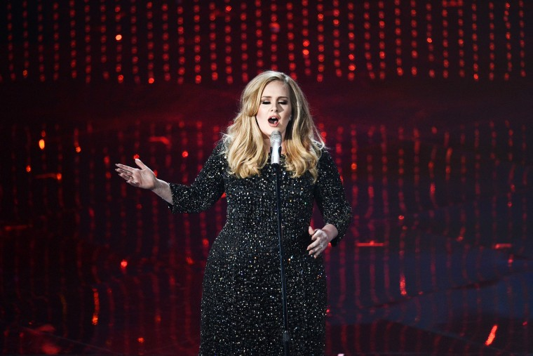 Singer Adele performs onstage during the Oscars held at the Dolby Theatre on Feb. 24, 2013 in Hollywood, Calif. (Photo by Kevin Winter/Getty)