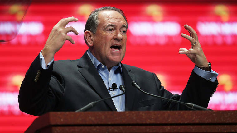 Republican presidential candidate former Arkansas Governor Mike Huckabee speaks during the Sunshine Summit conference being held at the Rosen Shingle Creek on Nov. 13, 2015 in Orlando, Fla. (Photo by Joe Raedle/Getty)
