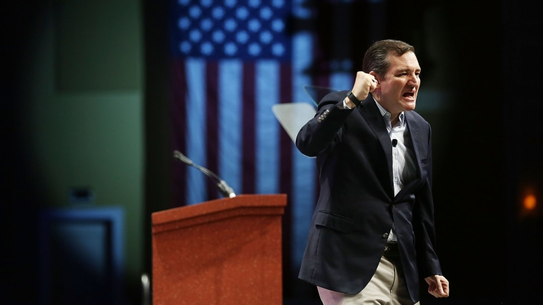 Republican presidential candidate Sen. Ted Cruz (R-TX) speaks during the Sunshine Summit conference being held at the Rosen Shingle Creek on Nov. 13, 2015 in Orlando, Fla. (Photo by Joe Raedle/Getty)