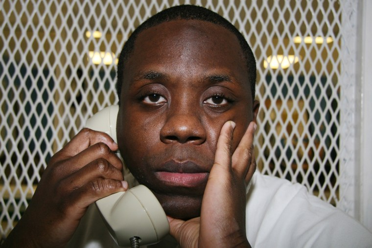 Condemned Texas inmate Raphael Holiday is photographed Oct. 28, 2015, during an interview outside death row at the Texas Department of Criminal Justice Polunsky Unit near Livingston, Texas. (Photo by Michael Graczyk/AP)