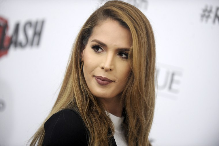 Carmen Carrera attending the 'Ricki And The Flash' New York premiere at AMC Lincoln Square Theater on Aug. 3, 2015 in New York City. (Photo by Dennis Van Tine/Geisler-Fotopres/picture-alliance/dpa/AP)