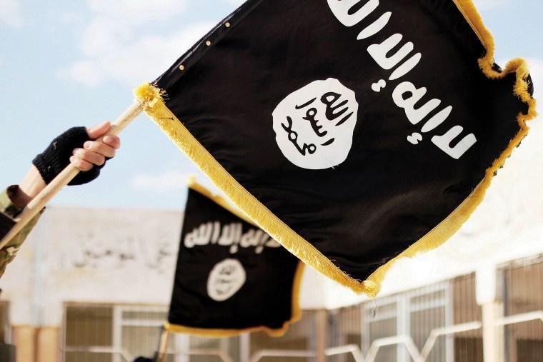 This Daesh propaganda photo shows their Black Muhammad Standard banner symbol, Nov. 19, 2015, Raqqa, Syria. (Photo by Dabiq/Planet Pix/ZUMA)