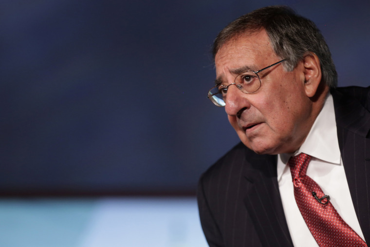 Former Secretary of Defense and director of the Central Intelligence Agency Leon Panetta discuss his new book, 'Worthy Fights,' during an event in the Jack Morton Auditorium at George Washington University, Oct. 14, 2014. (Photo by Chip Somodevilla/Getty)