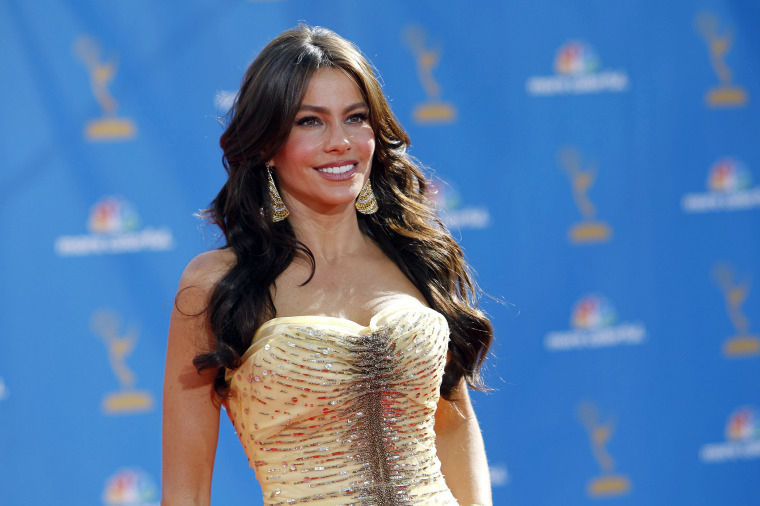 "Colombian actress Sofia Vergara from the comedy series ""Modern Family"" poses at the 62nd annual Primetime Emmy Awards in Los Angeles, Calif., Aug. 29, 2010. (Photo by Mario Anzuoni/Reuters)"
