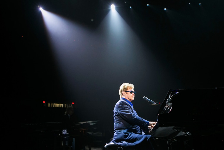 Elton John performs at Joe Louis Arena on Nov. 29, 2013 in Detroit, Mich. (Photo by Scott Legato/Getty)
