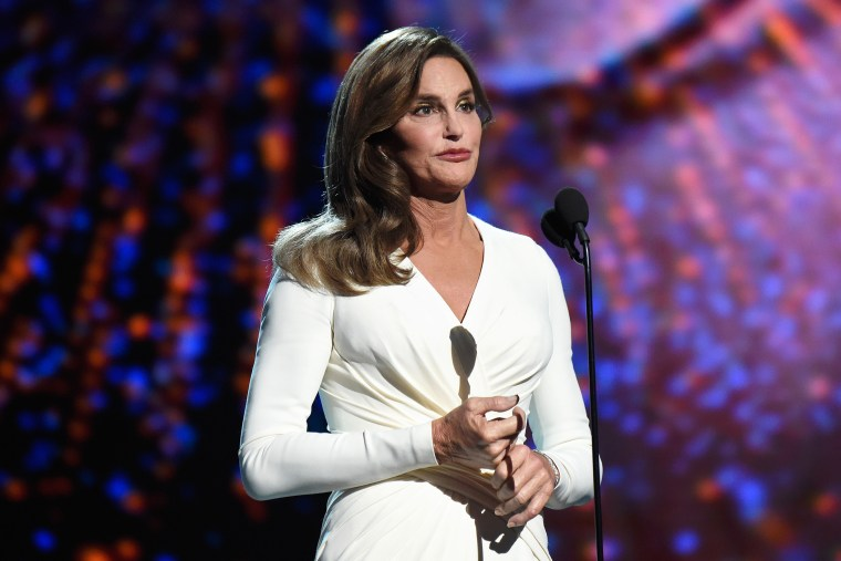 Caitlyn Jenner accepts the Arthur Ashe Courage Award and speaks onstage during The 2015 ESPYS at Microsoft Theater on July 15, 2015 in Los Angeles, Calif. (Photo by Kevin Mazur/WireImage/Getty)