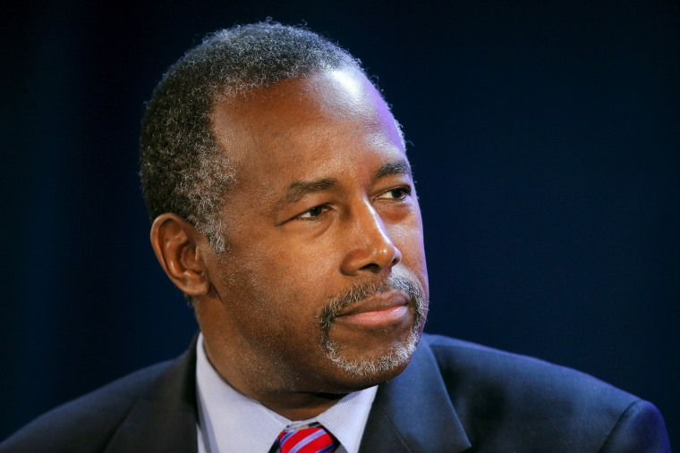 U.S. Republican presidential candidate Ben Carson speaks during the 20/20 Club Presidential Justice Forum at Allen University in Columbia, S.C. on Nov. 21, 2015. (Photo by Chris Keane/Reuters)