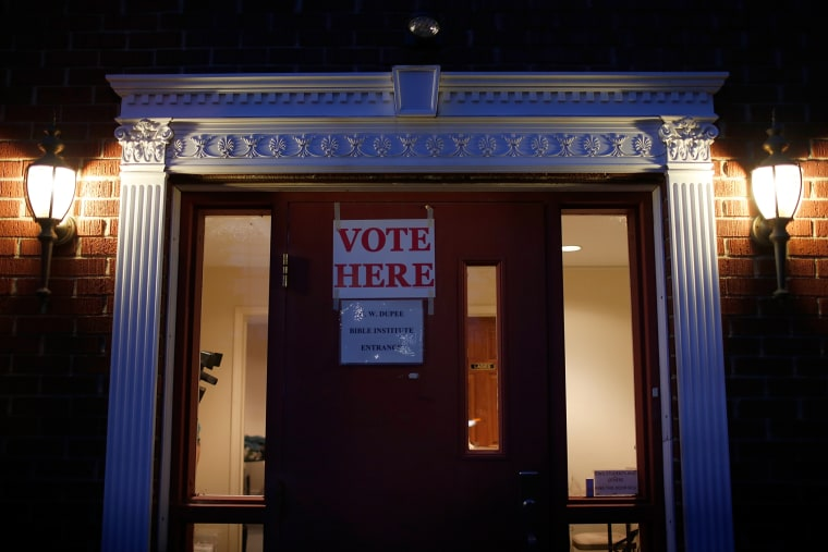 A polling station located at Pleasant Green Baptist Church is open for voting Nov. 4, 2014 in Lexington, Ky. (Photo by Win McNamee/Getty)