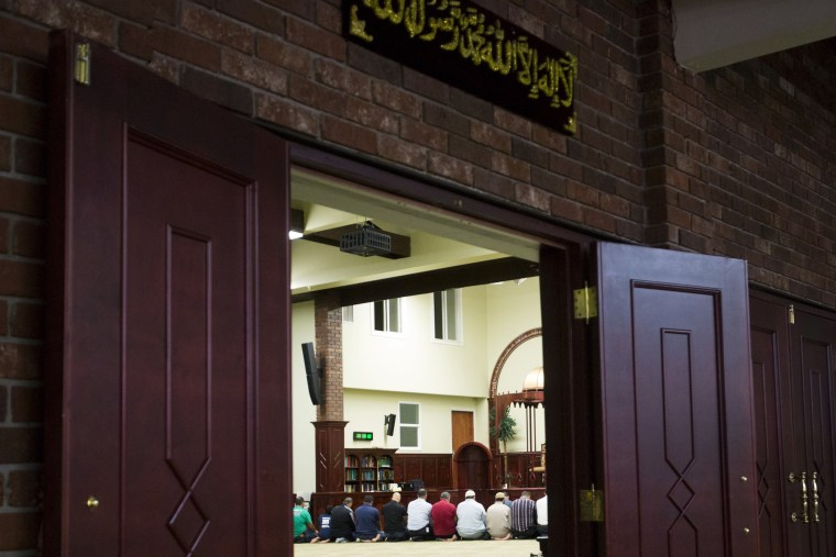 People pray inside of the Islamic Center of Passaic County in Paterson, New Jersey, Sept. 21, 2015. (Photo by Eduardo Munoz/Reuters)