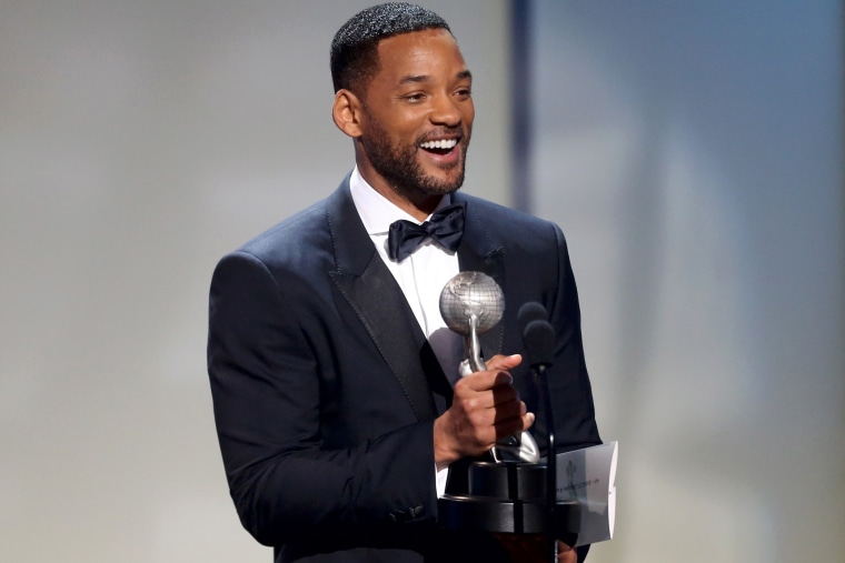 Actor Will Smith speaks onstage during the 46th NAACP Image Awards on Feb. 6, 2015 in Pasadena, Calif. (Photo by Frederick M. Brown/Getty for NAACP Image Awards)