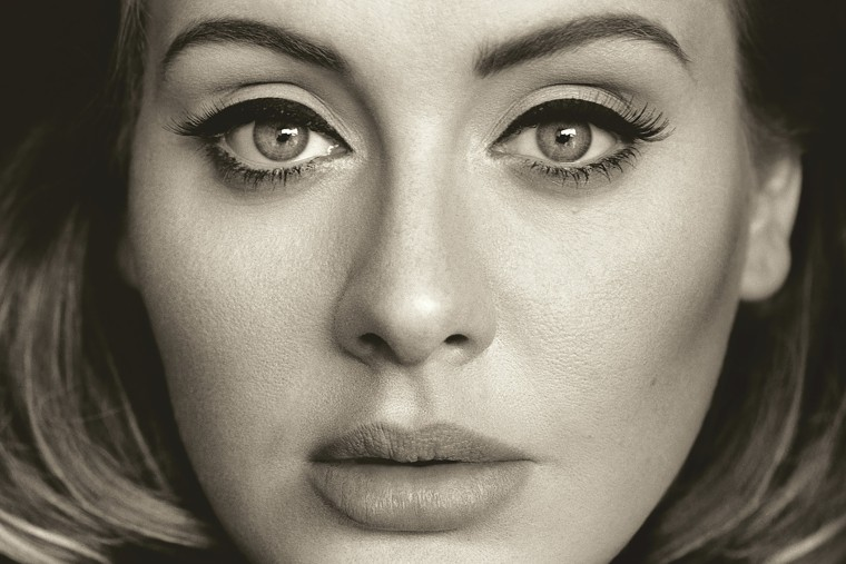"This CD cover image released by Columbia Records shows, ""25,"" the latest release by Adele. (Photo by Columbia Records/AP)"
