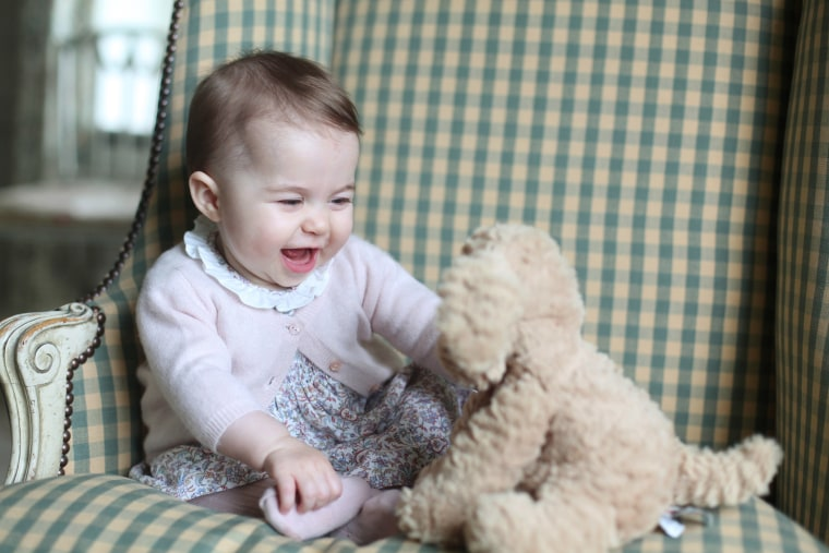 Princess Charlotte with her cuddly toy dog, at Anmer Hall in Sandringham, Nov. 29, 2015. Princess Charlotte was born May 2, 2015, and the photo was taken by her mother, Kate Duchess of Cambridge. (Photo by Duchess of Cambridge/AP)