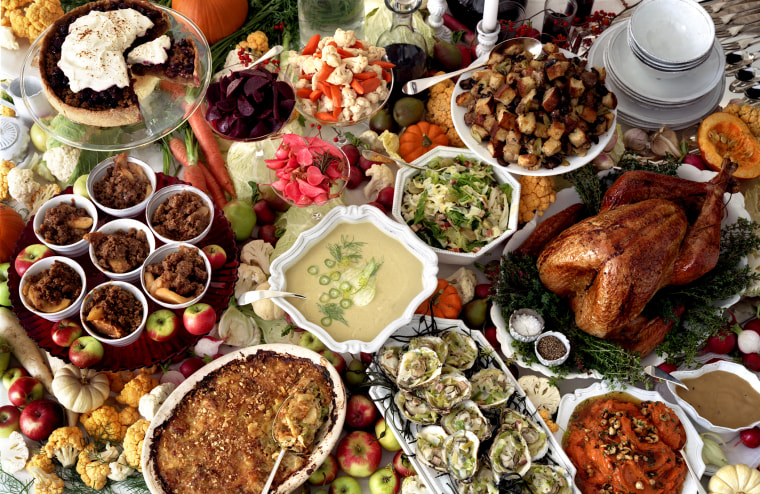Thanksgiving feast. (Photo by Marcus Nilsson/Gallery Stock)