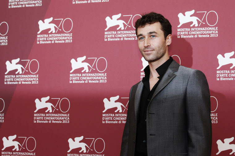 Actor James Deen poses for photographers at the 70th edition of the Venice Film Festival in Venice, Italy on Aug. 30, 2013. (Photo by David Azia/AP)