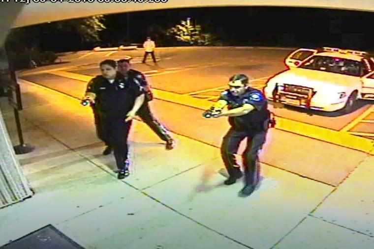 Linwood Lambert's encounter with Virginia police, by a hospital doorway in 2013, Va.
