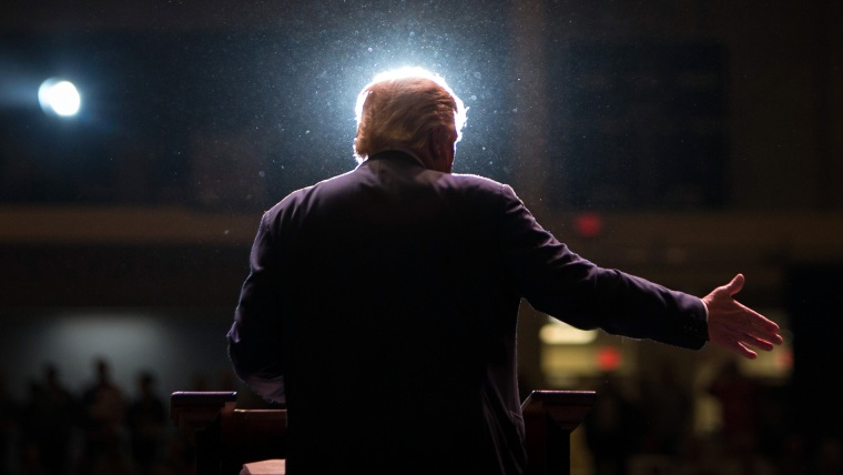 Republican presidential candidate Donald Trump speaks during a campaign rally at the Macon Centreplex, Nov. 30, 2015, in Macon, Ga. (Photo by Branden Camp/AP)