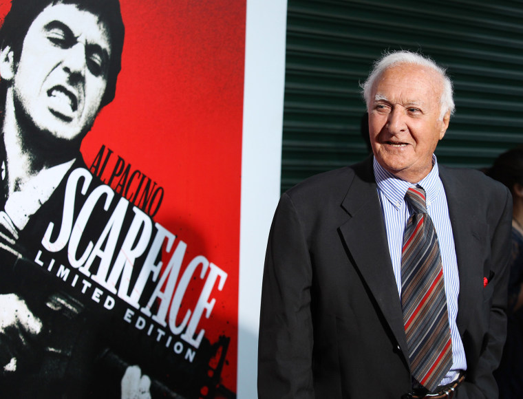 """Robert Loggia arrives at the """"Scarface"""" Blu-Ray DVD release party held at Belasco Theatre on Aug. 23, 2011, in Los Angeles, Calif. (Photo by Michael Tran/FilmMagic/Getty)"""