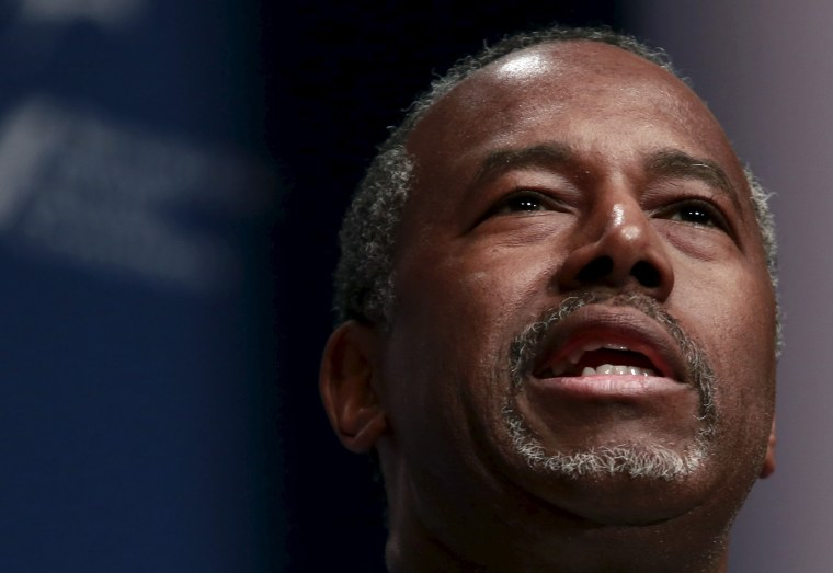 Republican presidential candidate Ben Carson speaks at the Republican Jewish Coalition's Presidential Forum in Washington, Dec. 3, 2015. (Photo by Yuri Gripas/Reuters)