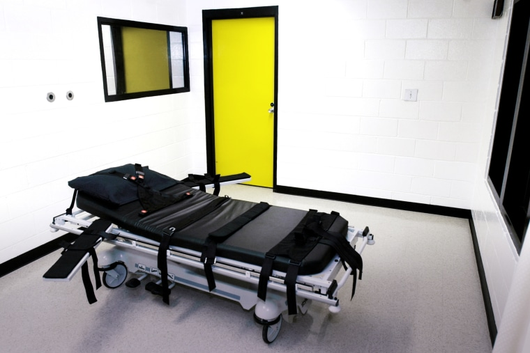 The death chamber at the state prison in Jackson, Ga. (Photo by Ric Field/File/AP)