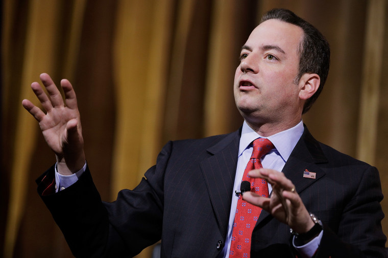 Reince Priebus, chairman of the Republican National Committee, speaks on a panel during the 41st annual CPAC at the Gaylord International Hotel and Conference Center on March 8, 2014 in National Harbor, Md. (Photo by T.J. Kirkpatrick/Getty)