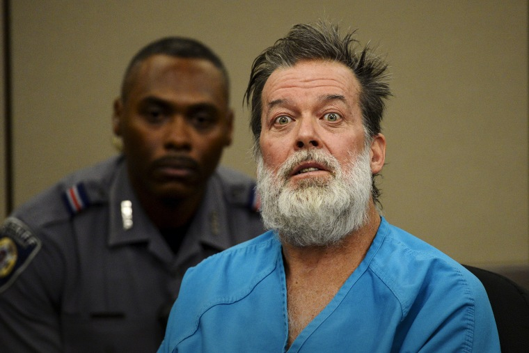 Shooting suspect Robert Lewis Dear, 57, attends his hearing to face 179 counts of various criminal charges at an El Paso County court in Colorado Springs, Colo., Dec. 9, 2015. (Photo by Andy Cross/The Denver Post/Pool/Reuters)