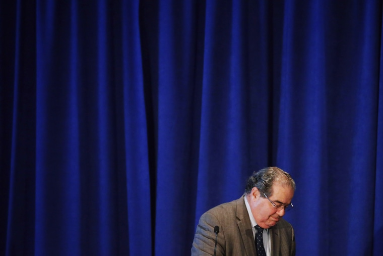 U.S. Supreme Court Associate Justice Antonin Scalia addresses the The Legal Services Corporation's 40th anniversary conference luncheon Sep. 15, 2014 in Washington, DC. (Photo by Chip Somodevilla/Getty)