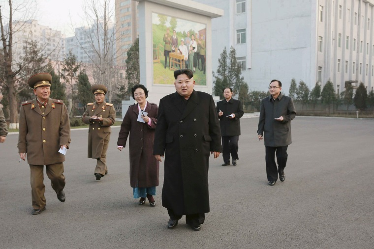 North Korean leader Kim Jong Un (C) visits the Phyongchon Revolutionary Site, in this undated photo released by North Korea's Korean Central News Agency (KCNA) in Pyongyang on Dec. 10, 2015. (Photo by KCNA/Reuters)