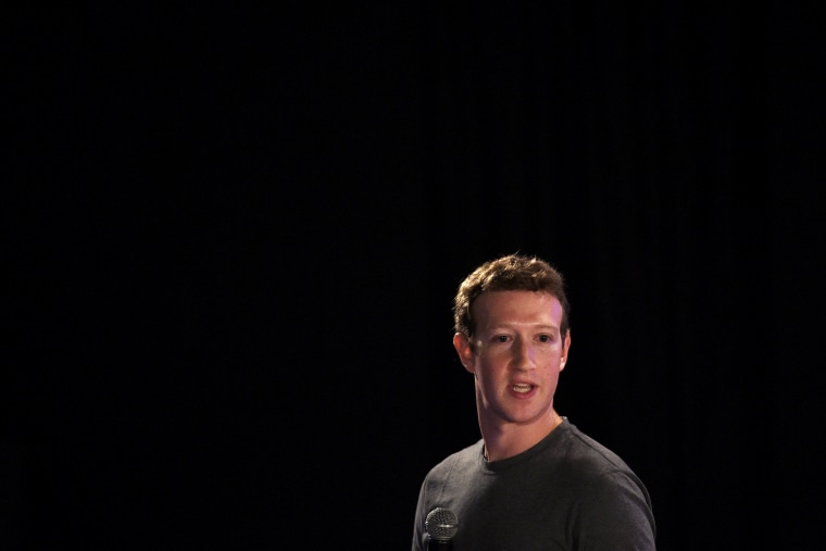 Facebook chief executive and founder Mark Zuckerberg speaks during a 'town-hall' meeting at the Indian Institute of Technology (IIT) in New Delhi, Oct. 28, 2015. (Photo by Money Sharma/AFP/Getty)