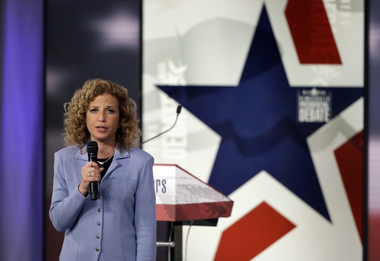 Democratic National Committee chair, Congresswoman Debbie Wasserman Schultz speaks before a Democratic presidential primary debate, Nov. 14, 2015, in Des Moines, Iowa. (Photo by Charlie Neibergall/AP)