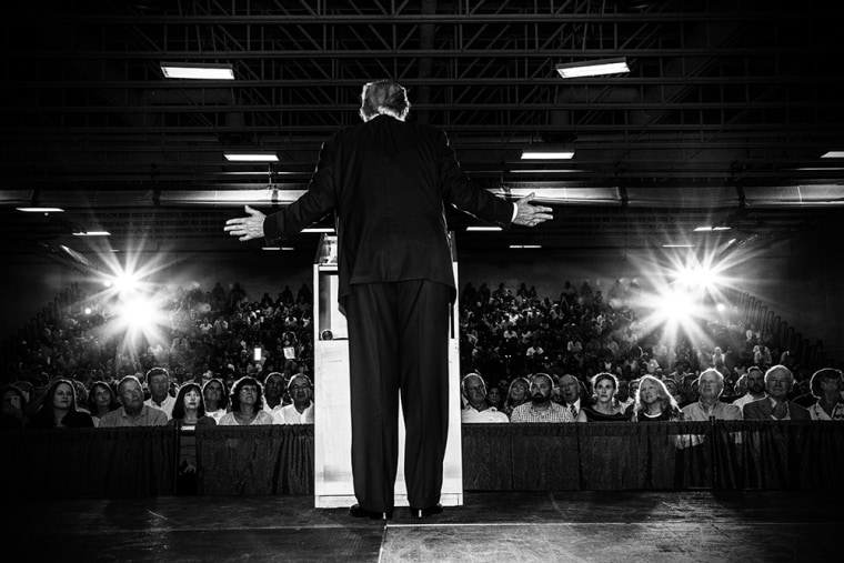 Donald Trump speaks at a town hall event in Rochester, N.H. on Sept. 17, 2015.