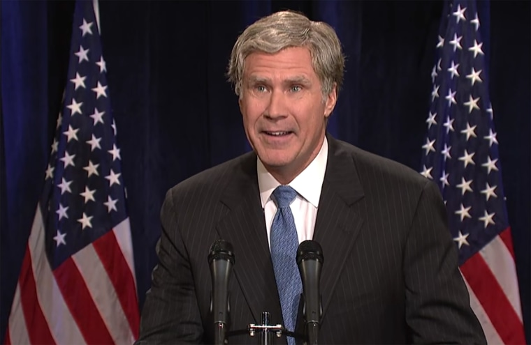 Will Ferrell returns to SNL for a sketch in which he plays George W. Bush, Dec. 12, 2015. (Screen grab courtesy of NBC)