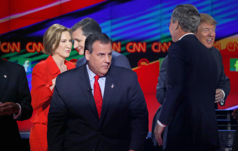 Republican U.S. presidential candidate Chris Christie at the end of the Republican presidential debate in Las Vegas, Nev., Dec. 15, 2015. (Photo by Mike Blake/Reuters)