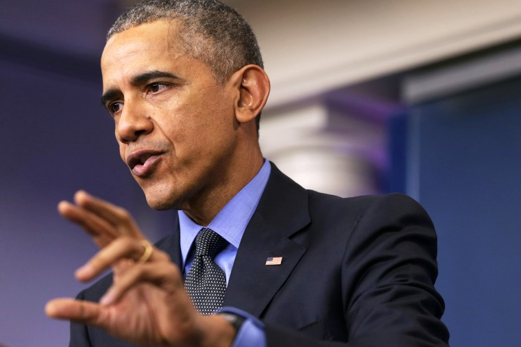 President Barack Obama speaks to the media during his year end news conference in the Brady Briefing Room at the White House on Dec. 18, 2015 in Washington, D.C. (Photo by Alex Wong/Getty)