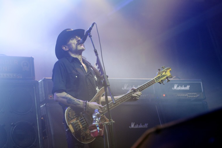 Lemmy Kilmister, singer of British Heavy Metal Band Motorhead, performs in Munich, Germany, Nov. 20 2015. (Photo by Andreas Gebert/EPA)