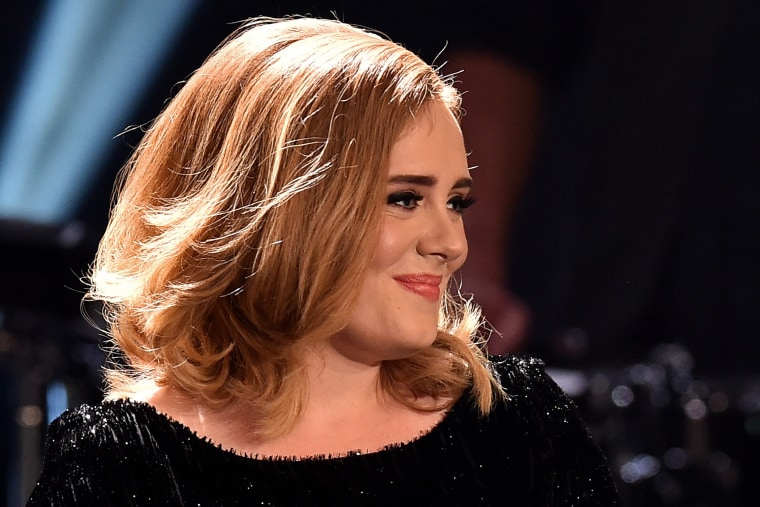 Adele attends the television show 2015! Menschen, Bilder, Emotionen - RTL Jahresrueckblick on Dec. 6, 2015 in Cologne, Germany. (Photo by Sascha Steinbach/Getty)