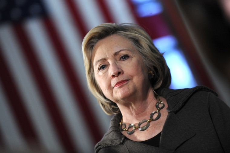 Former Secretary of State and Democratic presidential candidate Hillary Clinton speaks during a town hall meeting at Keene High School, N.H., Jan. 3, 2016. (Photo by Dennis Van Tine/Future-Image/ZUMA)