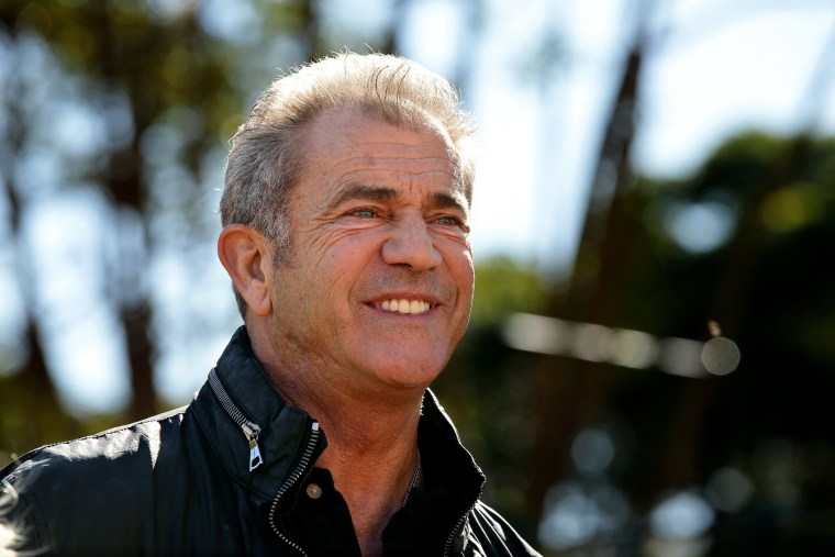 Mel Gibson speaks during an event at Fox Studios, Moore Park in Sydney, New South Wales on July 30, 2015. (Photo by Gregg Porteous/Newspix/Getty)